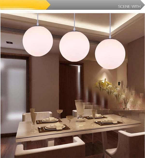 Innovative Series Of Ball Pendant Lighting Inside Aliexpress Buy Led Lighting Modern Brief Lighting Lamps (Image 13 of 25)
