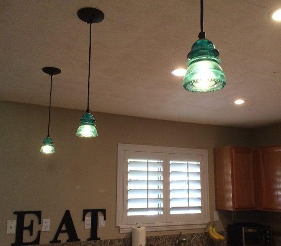 Innovative Top Aqua Glass Pendant Lights For 13 Best Insulator Pendant Lights Images On Pinterest (View 24 of 25)