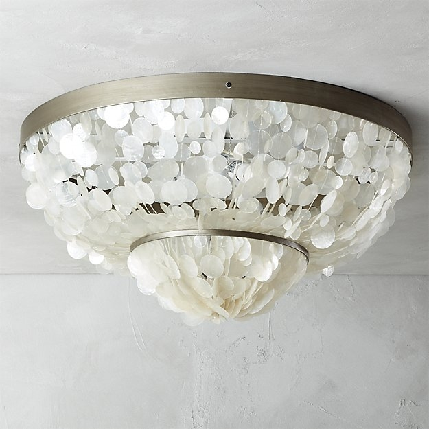 Innovative Top Cb2 Light Fixtures In Capiz Flush Mount Lamp Cb (Image 15 of 25)