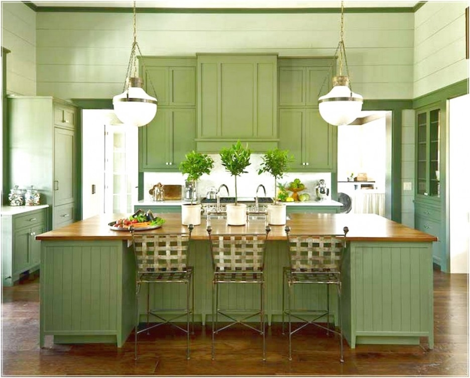 Innovative Top Green Kitchen Pendant Lights Pertaining To Kitchen Wonderful Green Kitchen Cabinets Home Depot With Green (View 12 of 25)