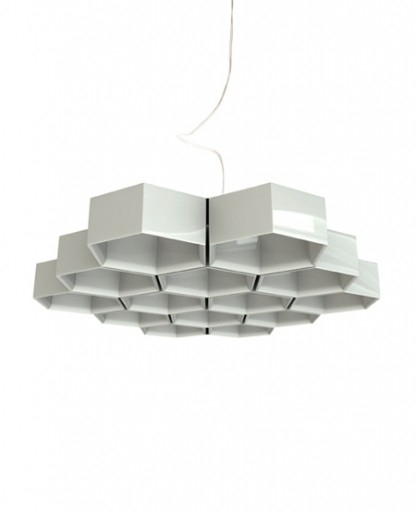 Innovative Top Honeycomb Pendant Lights Within Honeycomb 6 Modules Pendant Light Luceplan Interior Deluxe (Image 17 of 25)