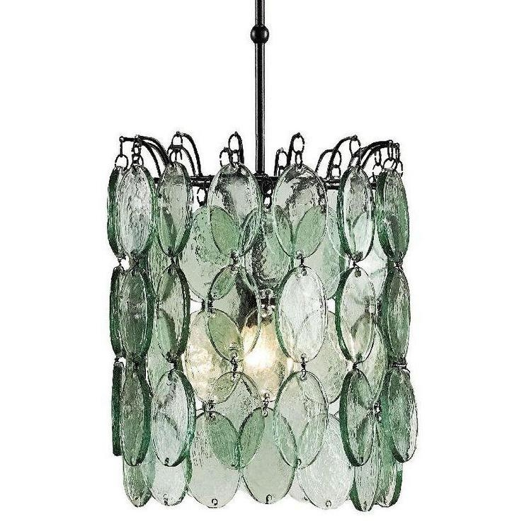 Innovative Top Recycled Glass Pendant Lights In Cascade Hanging Discs Glass Pendant (Image 17 of 25)