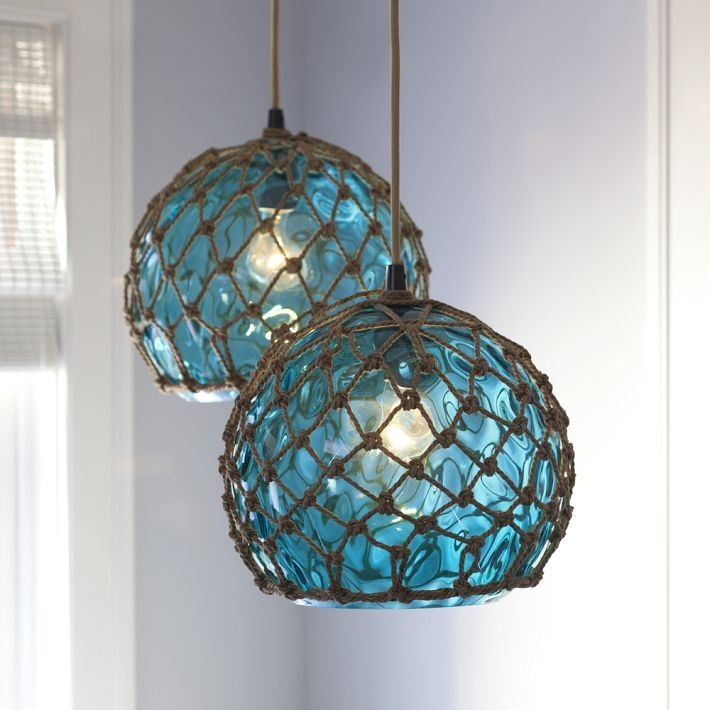 Innovative Trendy Beachy Pendant Lighting Intended For Beach Glass Pendant Light Google Search Beachside Interior (Image 16 of 25)