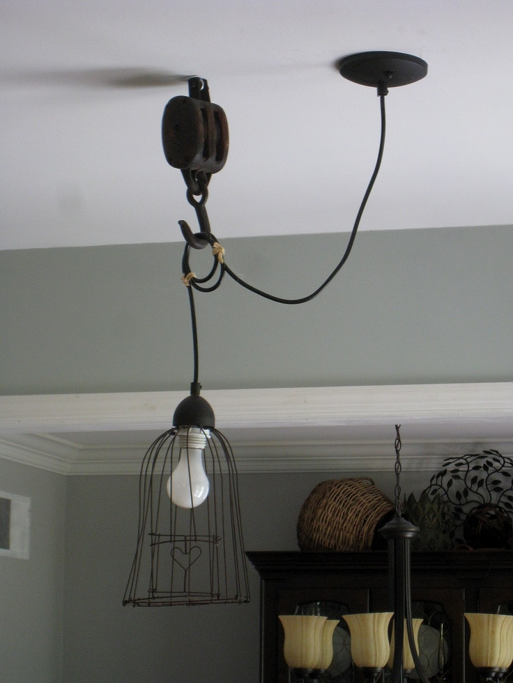 Innovative Variety Of Double Pulley Pendant Lights Inside Pendant Light W Pulley I Want To Find Ways Of Using The Old (Image 14 of 25)