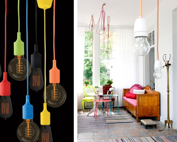 Featured Image of Coloured Cord Pendant Lights