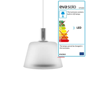 Innovative Wellknown Eva Pendant Lights Intended For Sunlight Pendant Lamp Eva Solo In The Shop (Image 16 of 25)