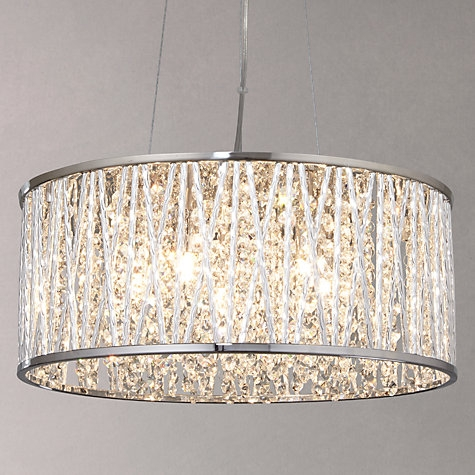 Innovative Wellknown John Lewis Lighting Pendants Intended For Emilia Drum Crystal Pendant Light Crystal Pendant Lighting (Image 15 of 25)