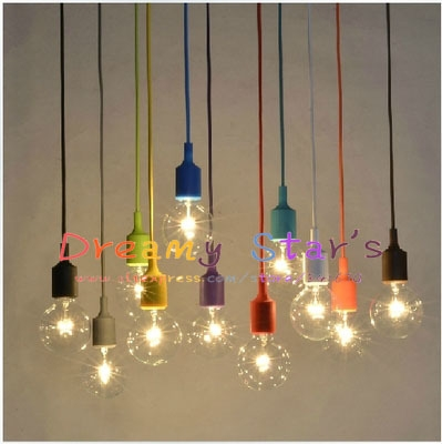 Innovative Wellknown Multi Coloured Pendant Lights Inside Online Shop Multicolor Silicone Pendant Chandelier Lamp Holder (View 14 of 25)