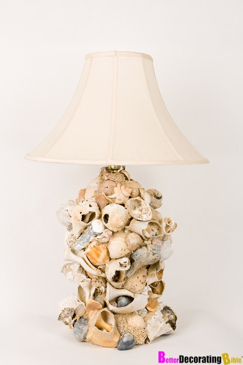 Innovative Wellknown Shell Light Shades Pertaining To 9 Awesome Diy Beach Inspired Lamps Shelterness Diy Crafts (View 25 of 25)