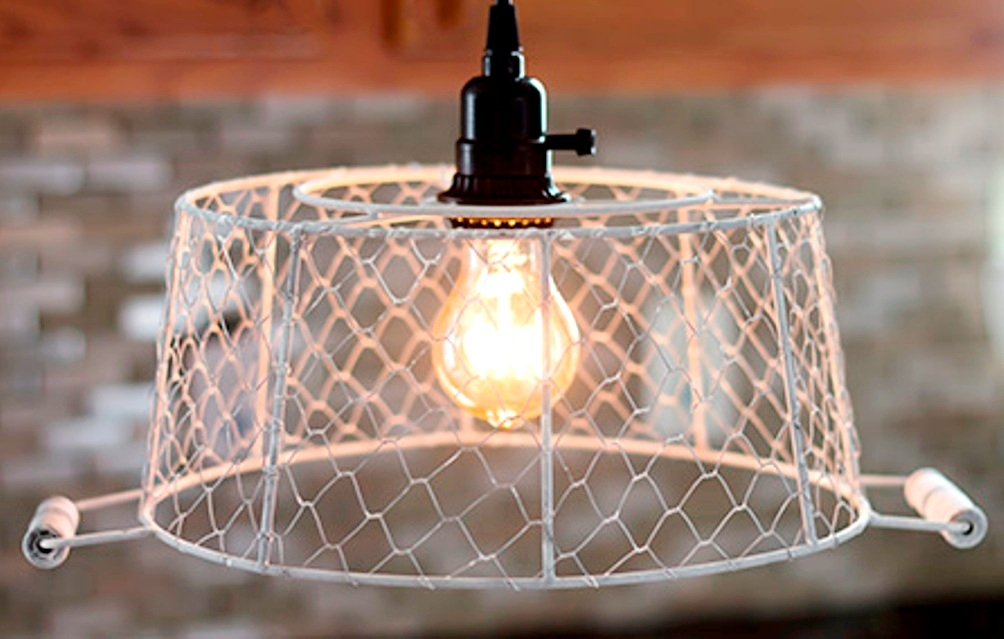 Innovative Wellliked Chicken Wire Pendant Lights Intended For Plug In Pendant Light Chicken Wire Basket How To Plug In Pendant (Image 17 of 25)