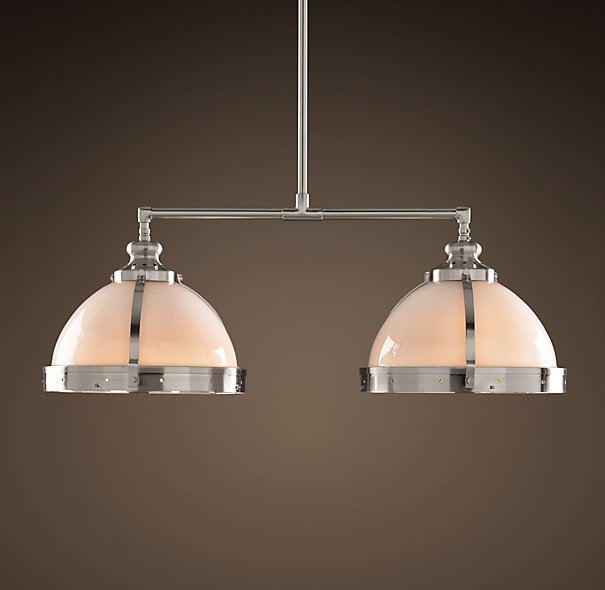 Innovative Wellliked Clemson Pendant Lights For Clemson Classic Double Pendant 8 Polished Nickel Banquette (Image 9 of 25)