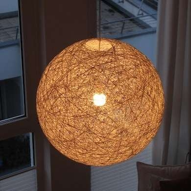Innovative Wellliked Diy Yarn Pendant Lights Inside Diy String Lampshade Diy Pinterest Wool Yarn Yarns And (Image 16 of 25)
