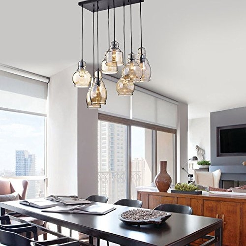 Innovative Wellliked Glass 8 Light Pendants In Jojospring Mariana 8 Light Cognac Glass Cluster Pendant In Antique (Image 20 of 25)