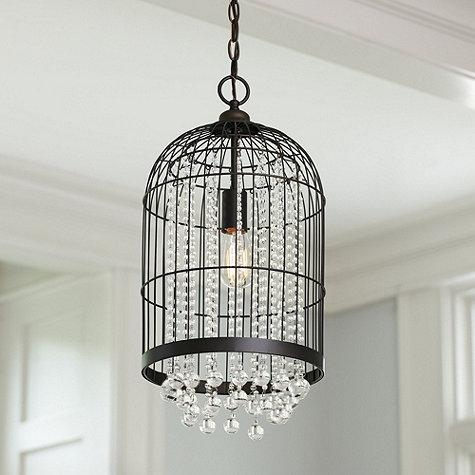 Innovative Widely Used Birdcage Pendant Lights In Caged Dangling Crystals Pendant (Image 20 of 25)