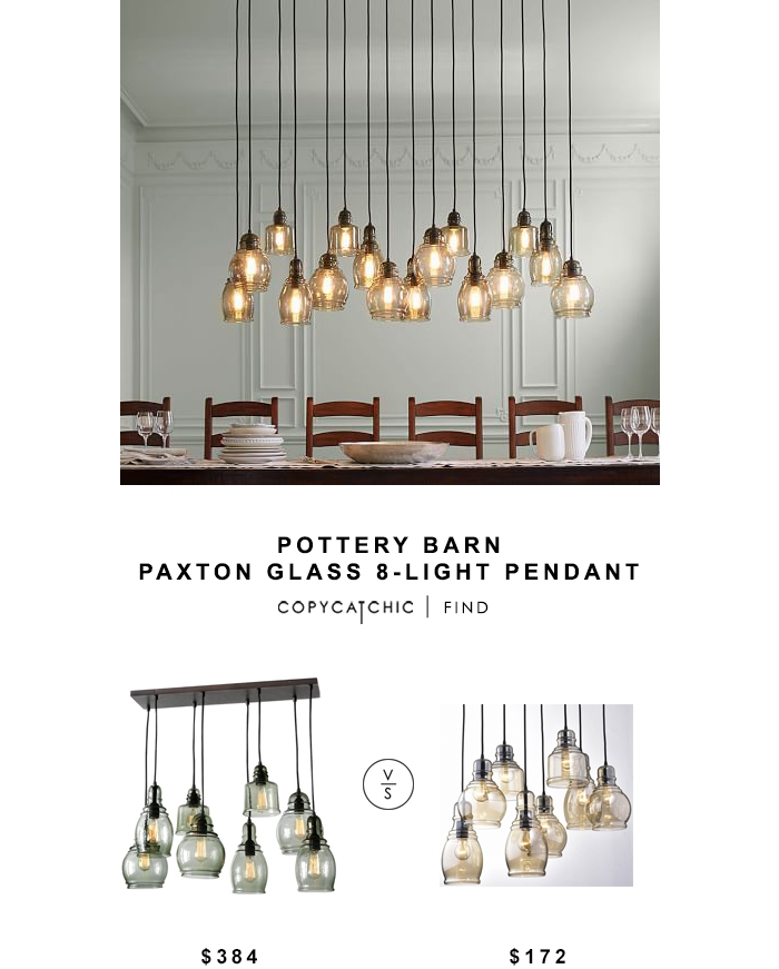 Innovative Widely Used Glass 8 Light Pendants With Regard To Pottery Barn Paxton Glass 8 Light Pendant Copycatchic (Image 21 of 25)