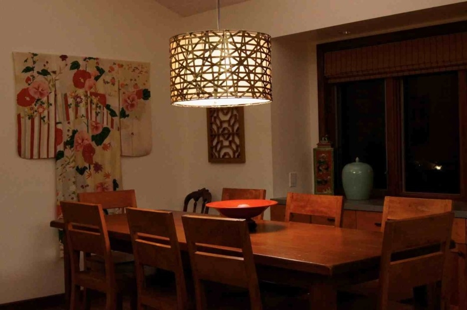 Innovative Widely Used Rectangular Drum Pendant Lights With Regard To Rectangular Dining Room Lights (Image 14 of 25)