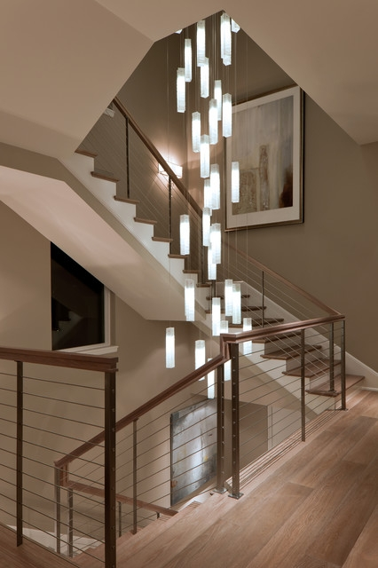Innovative Widely Used Stairwell Pendant Lights Inside Tanzania Chandelier Contemporary Living Room Stairwell Light (Image 18 of 25)