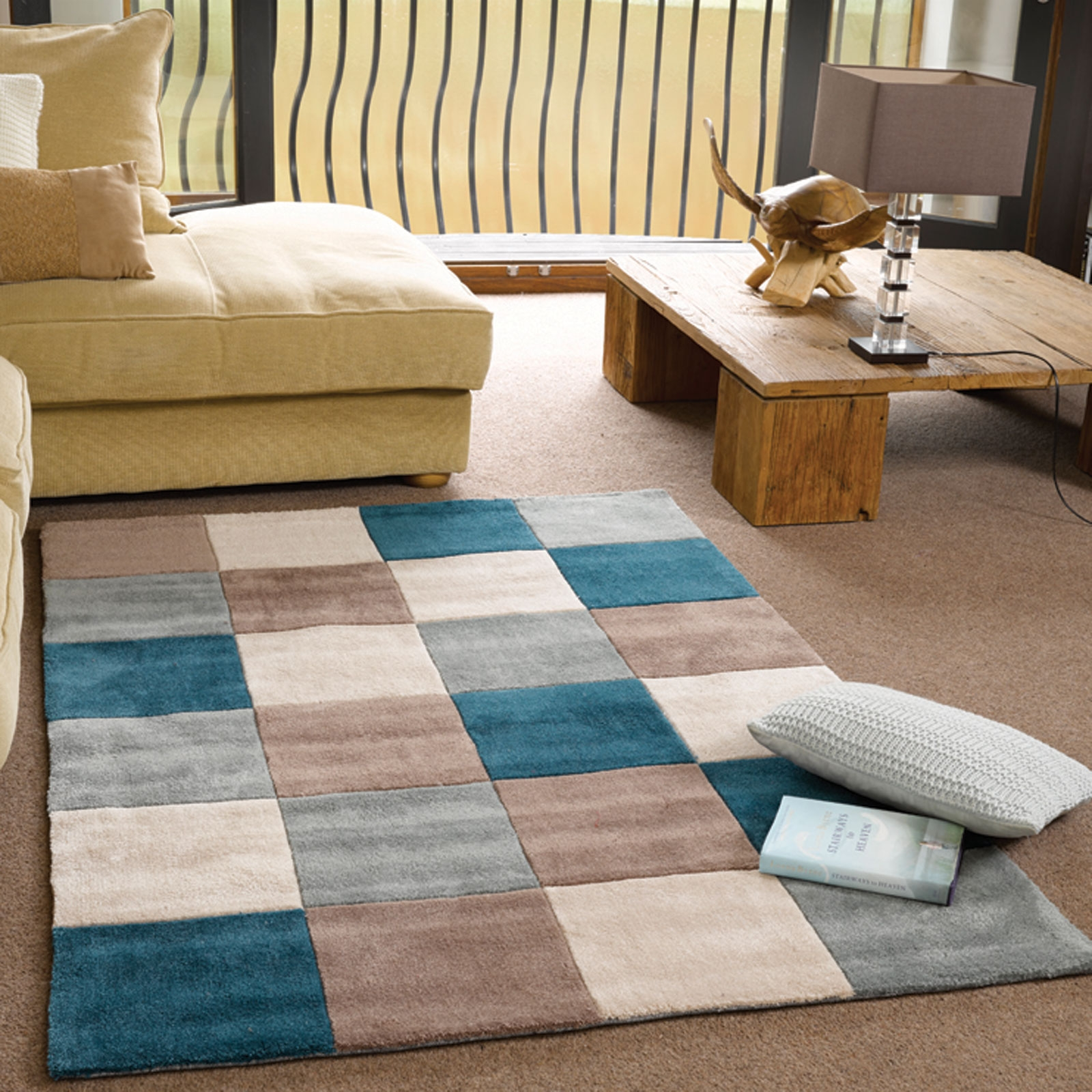 Inspire Squared Rugs In Teal Duck Egg Free Uk Delivery The Rug Pertaining To Duck Egg Rugs (Image 6 of 15)