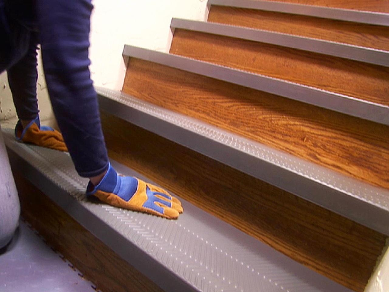 Installing Non Slip Stair Treads How Tos Diy Pertaining To Brown Stair Treads (Image 3 of 15)