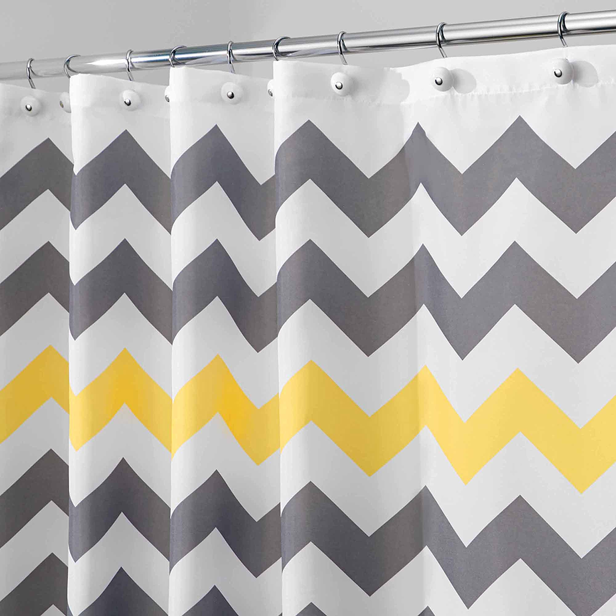 Interdesign Chevron Shower Curtain Walmart Intended For Gray Chevron Shower Curtains (Image 15 of 25)