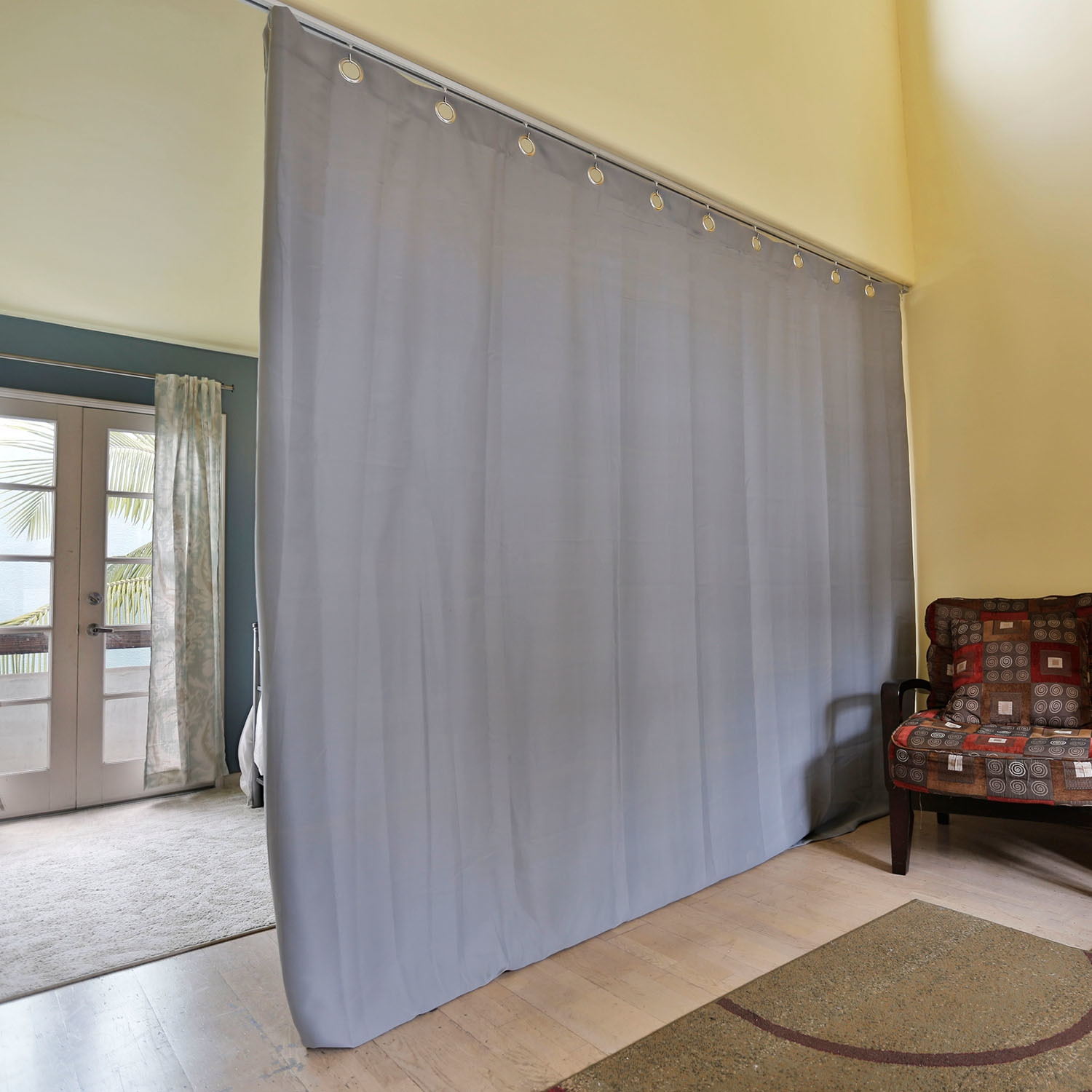 Interior Decor Curtains To Divide Room Tension Rod Room In Room Curtain Dividers (View 19 of 25)