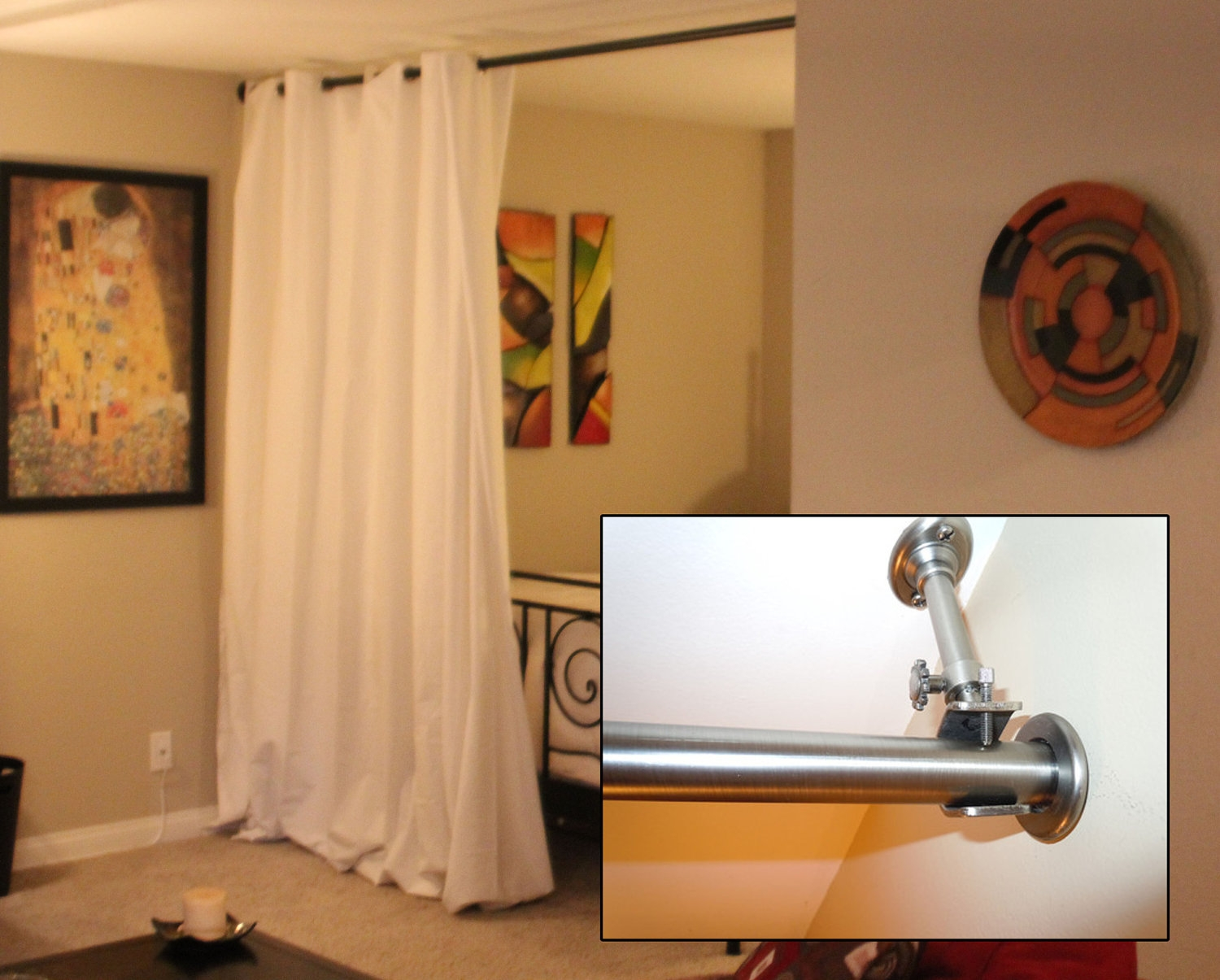 Interior Decor Tension Rod Room Divider Ikea Tension Rod In Room Curtain Divider IKEA (Image 17 of 25)