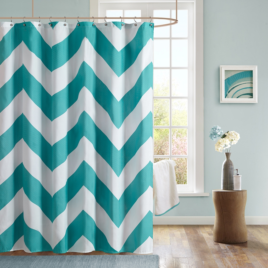 Interior Design Appealing Bathroom Decoration With Grey Chevron In Gray Chevron Shower Curtains (View 13 of 25)