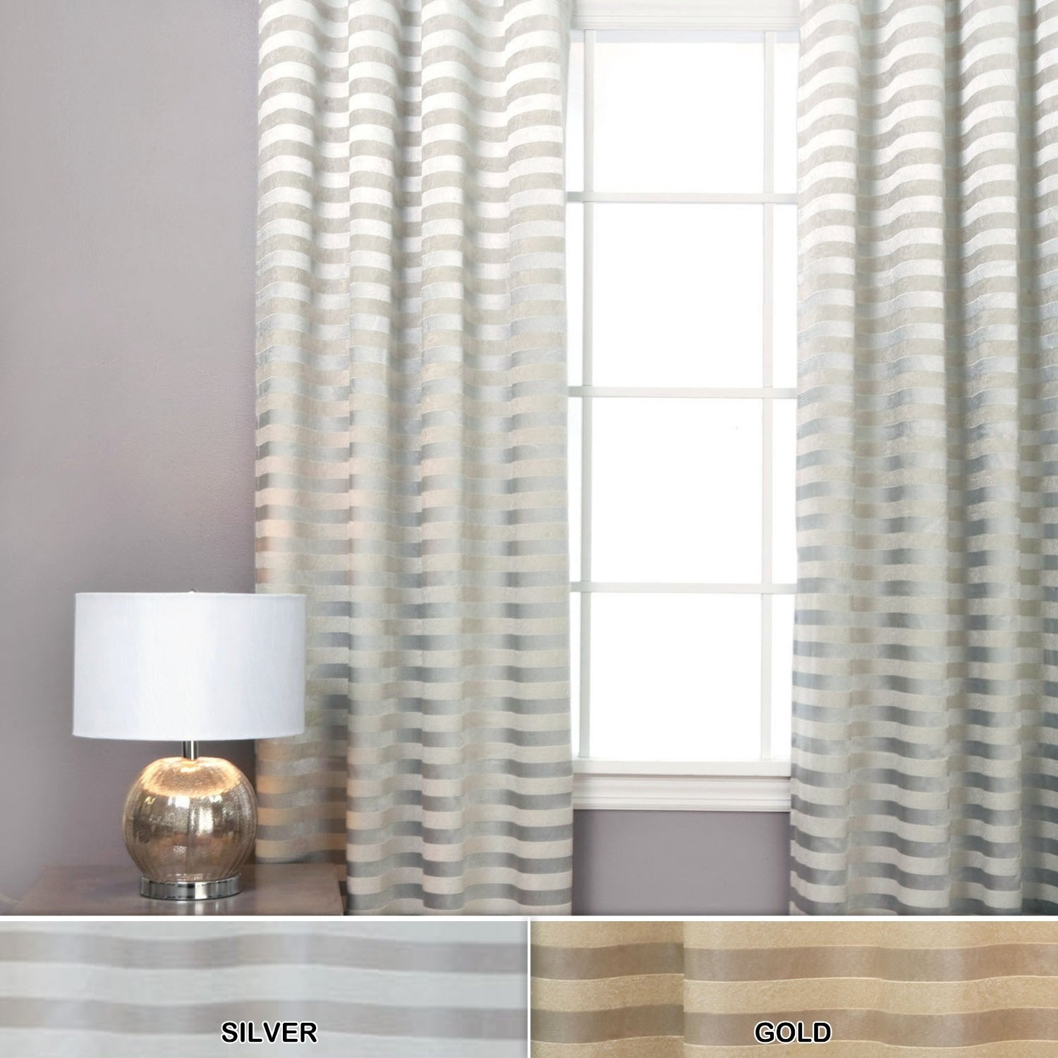 Interior Design Charming Horizontal Striped Curtains For Interior With Regard To Stripe Curtains (Image 15 of 25)