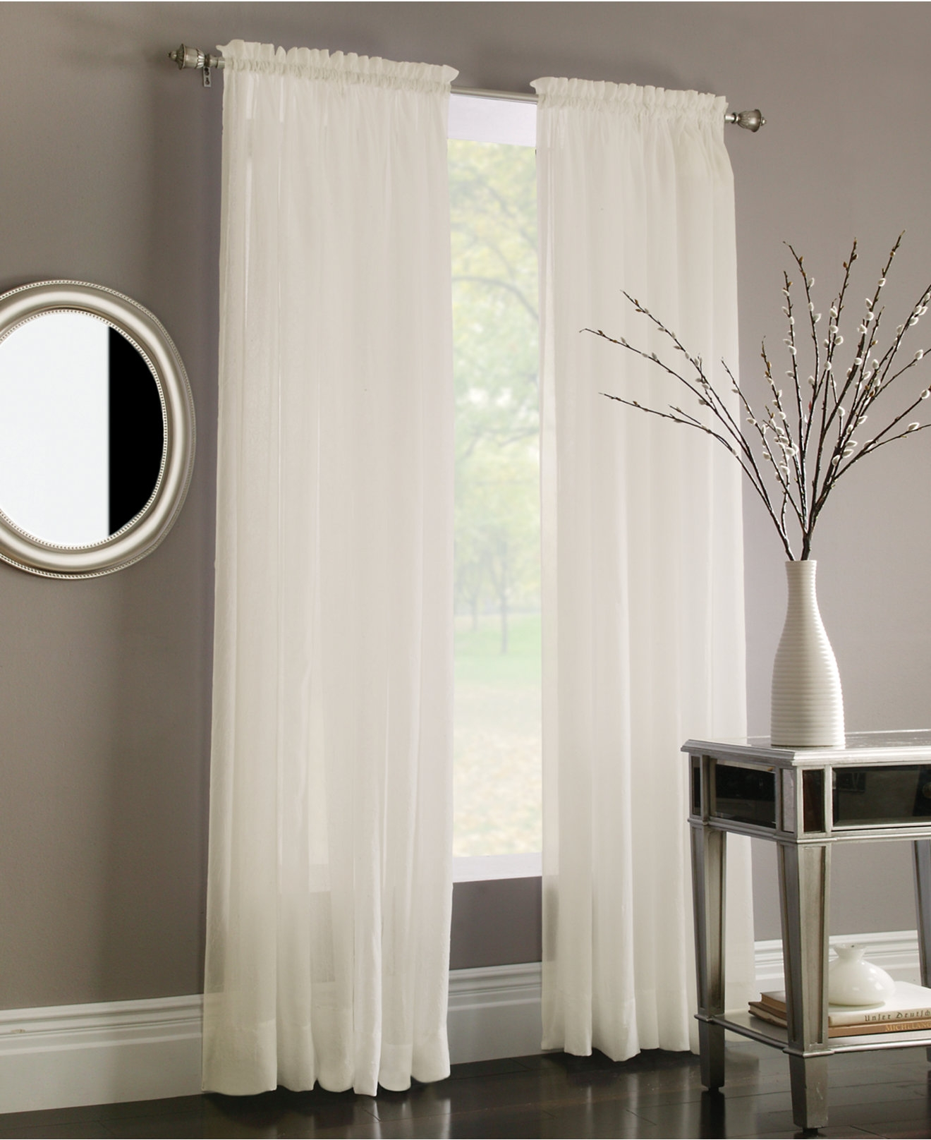 Interior Sheer Grey Curtains And Beautiful Curtain Sheers For Regarding Dark Grey Sheer Curtains (Image 18 of 25)