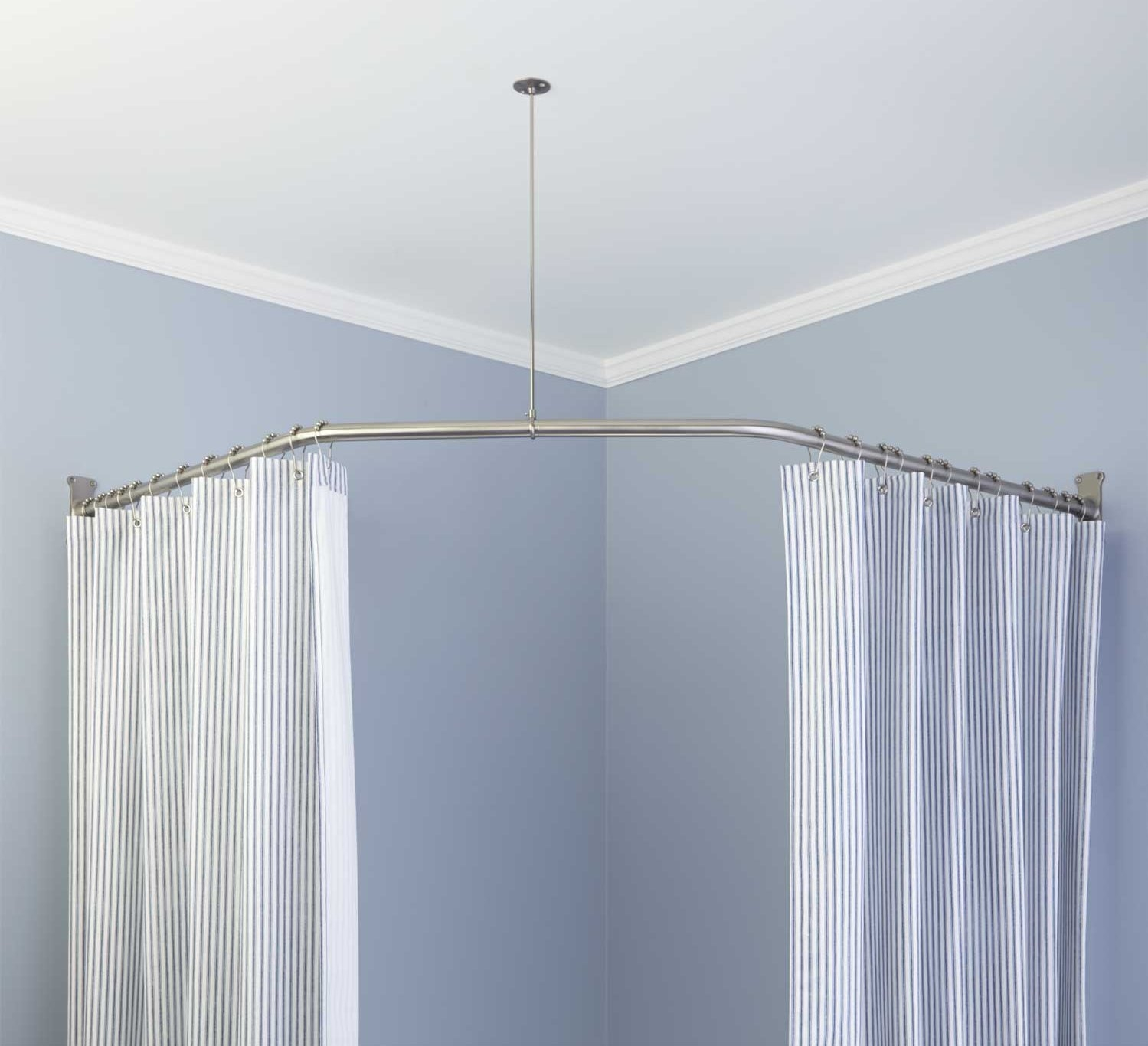 Interior Strong But Elegant Styles Of L Shaped Shower Curtain Rod With Regard To L Shaped Shower Curtain Rods (View 12 of 25)