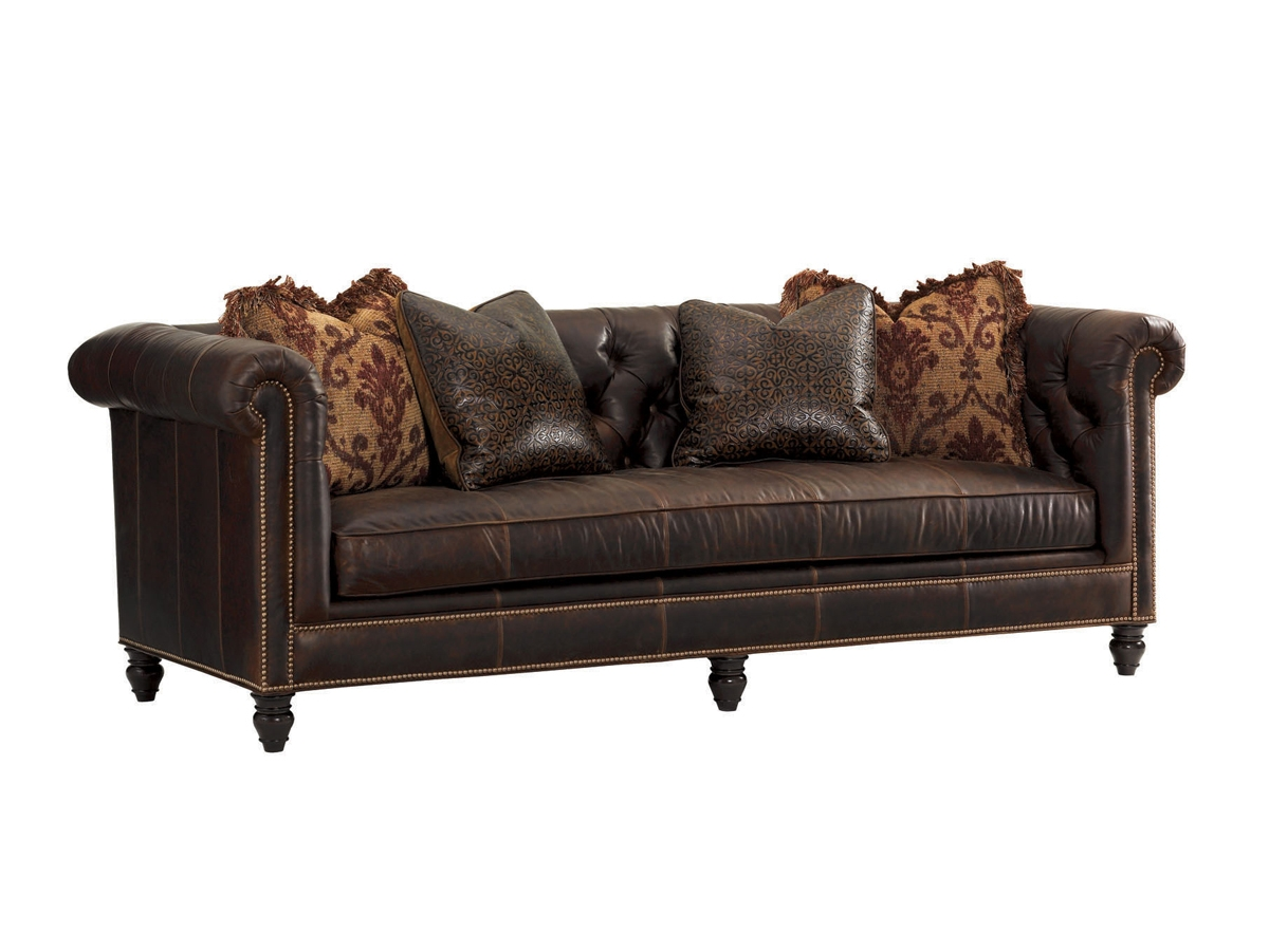 Island Traditions Manchester Leather Sofa Lexington Home Brands Regarding Manchester Sofas (Image 3 of 15)