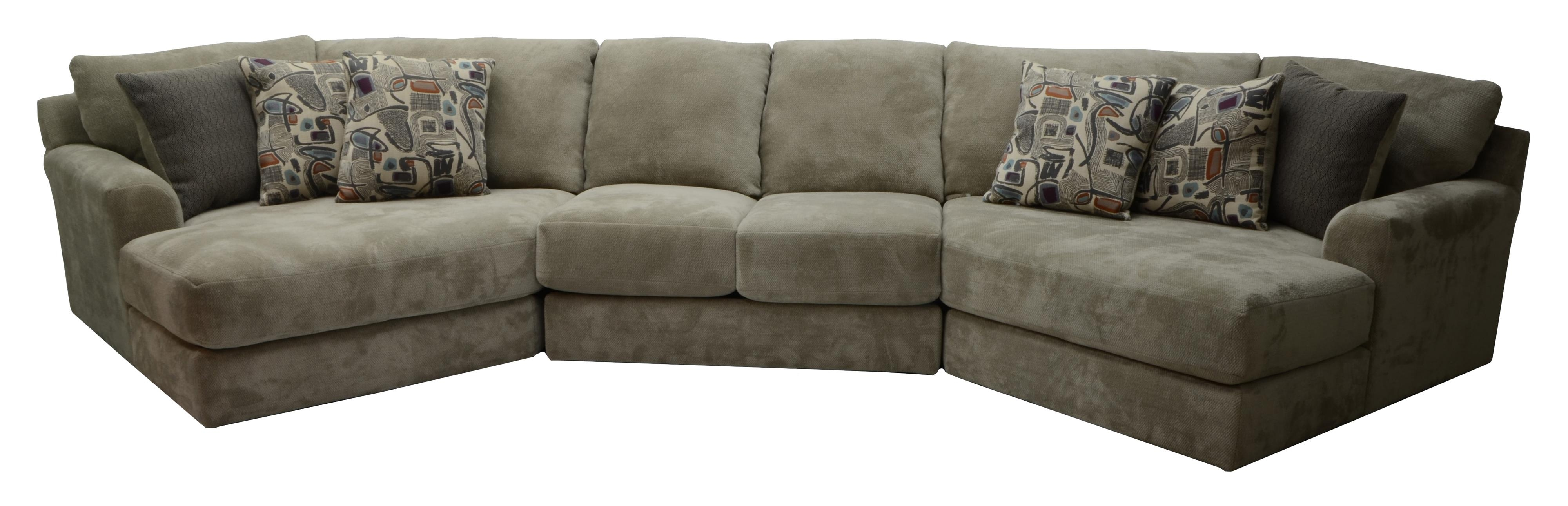 Jackson Furniture Malibu Four Seat Sectional Sofa Efo Furniture Throughout Four Seat Sofas (Image 14 of 15)