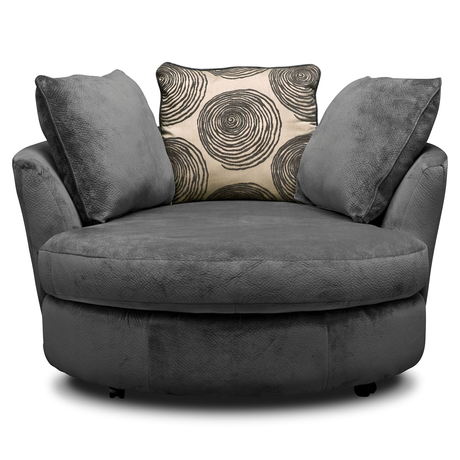 Jeanie Round Chair And A Half Home Chair Designs Inside Round Sofa Chair Living Room Furniture (Image 3 of 15)
