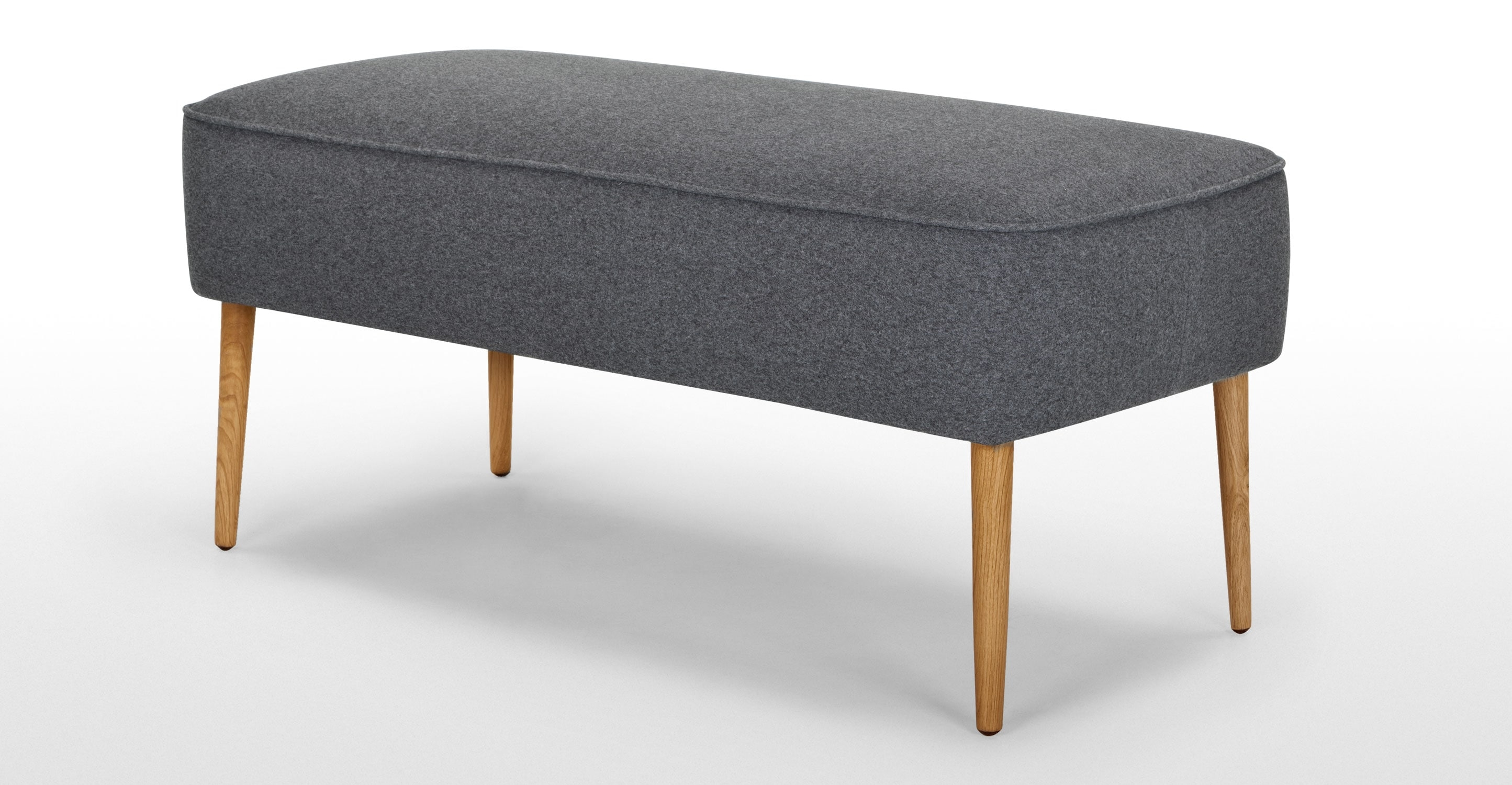 Jersey Large Footstool In Tril Grey Made Intended For Large Footstools (Photo 10 of 15)