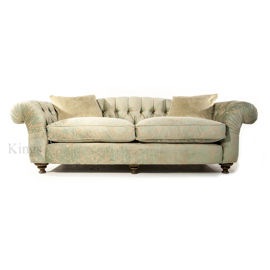 John Sankey Bloomsbury Grand Sofa In Florence Velvet Haze Pertaining To Florence Grand Sofas (Image 12 of 15)