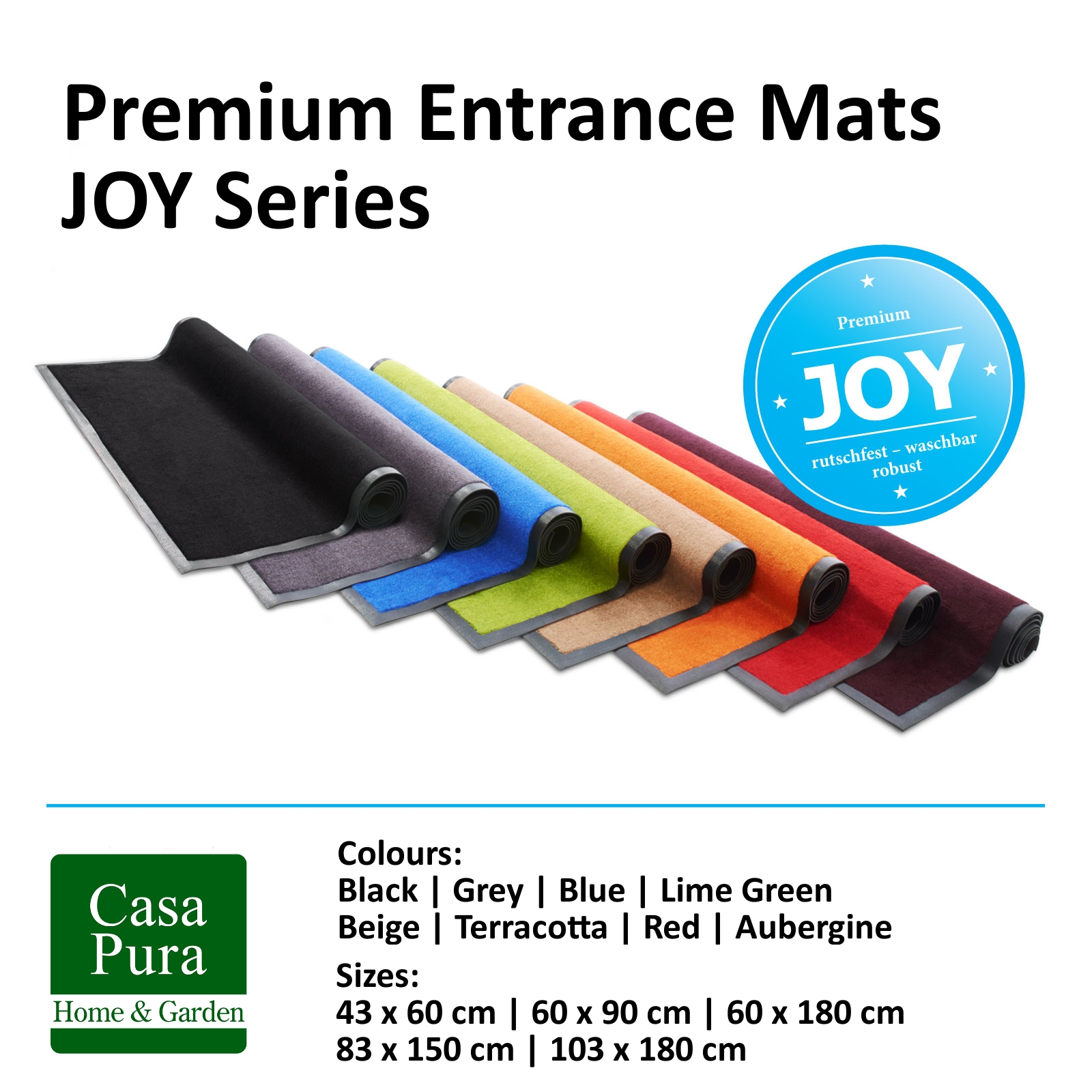 Joy Floor Mat Entrance Runner Indoor Outdoor Washable Mats With Entrance Runners (Image 9 of 15)