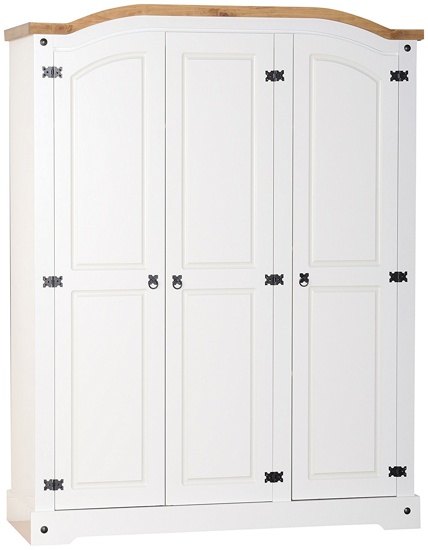 Julian Bowen Cameo 3 Door Wardrobe Stone White Amazoncouk Pertaining To 3 Door White Wardrobes (View 23 of 25)