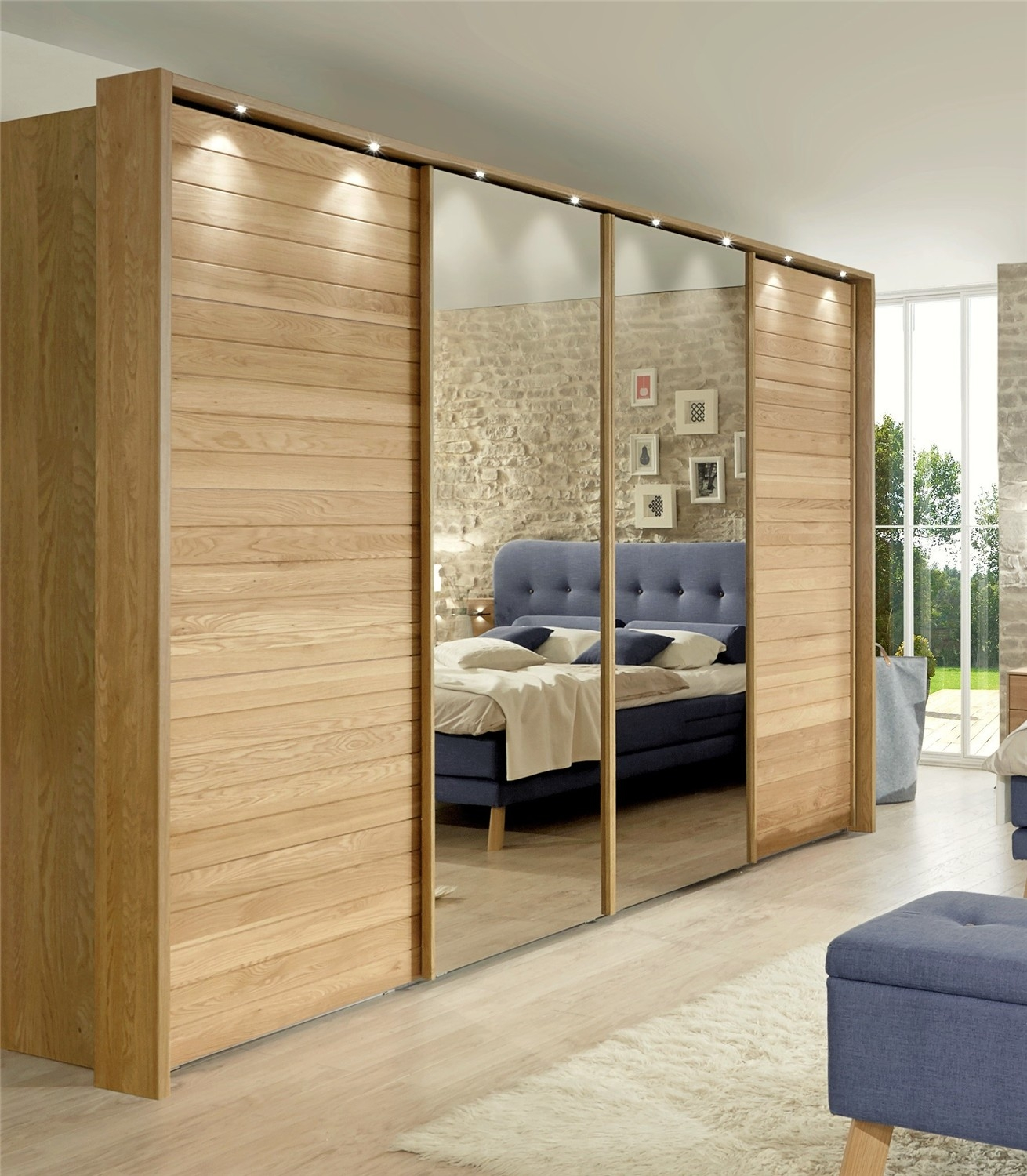 Jupiter Stylform Semi Solid Oak And Glass Or Mirror Sliding Pertaining To Sliding Door Wardrobes (Photo 25 of 25)