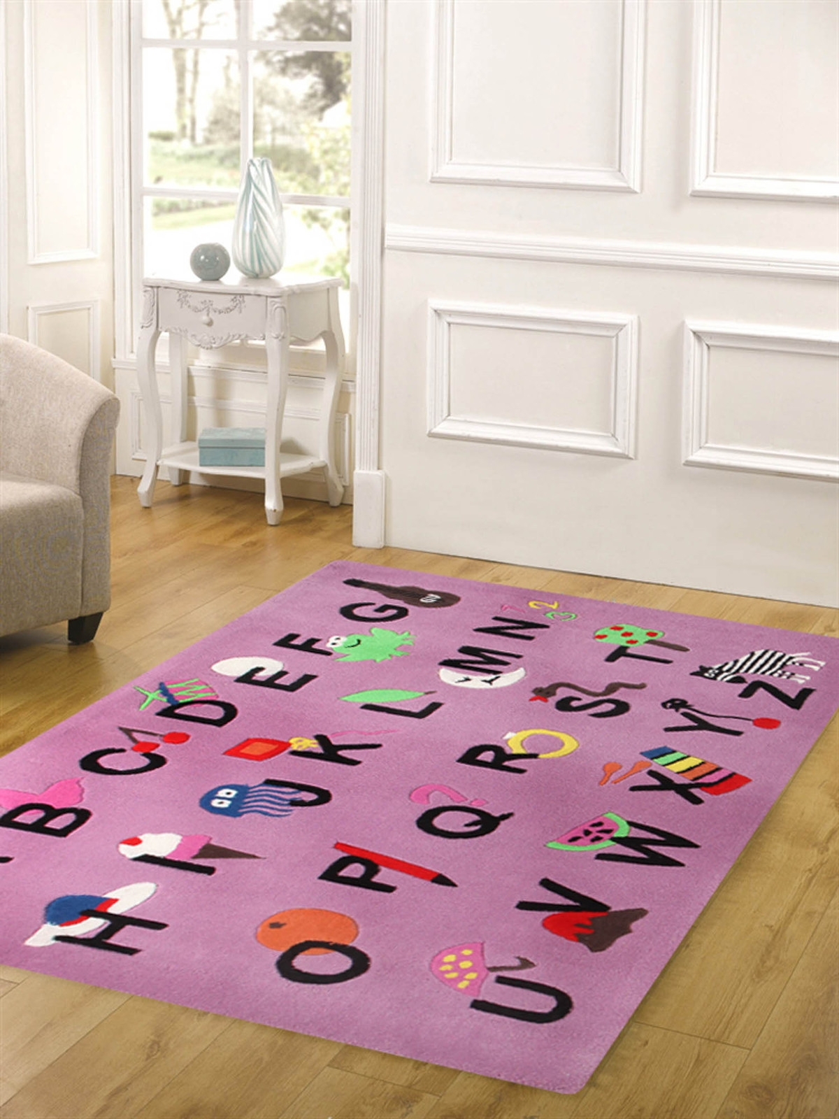 Just Kidding Alphabet Rug Pink Kids Rugs Online Beyond Bright For Pink Alphabet Rugs (Photo 5 of 15)