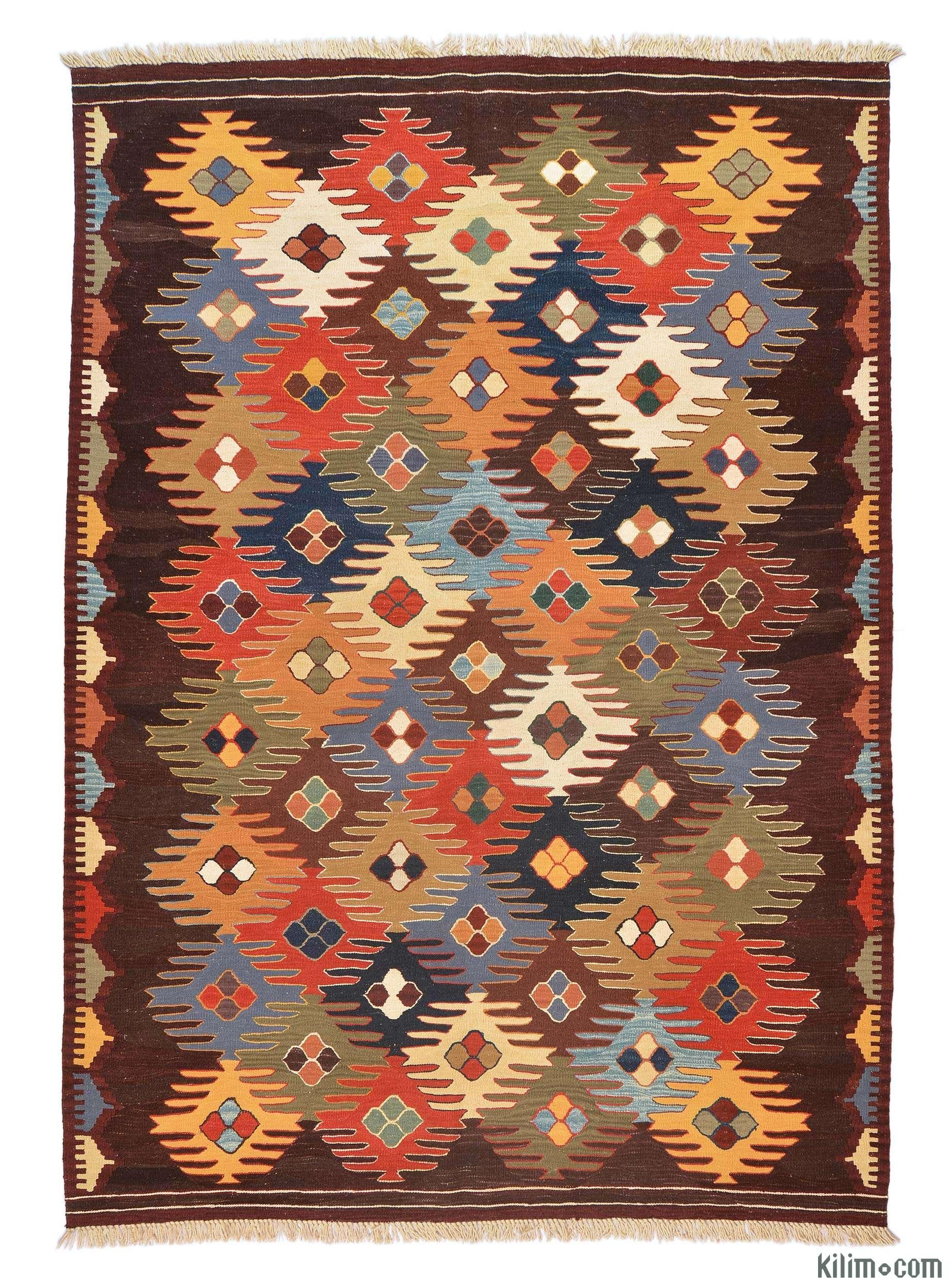 K0005789 Multicolor New Turkish Kilim Rug Kilim Rugs Overdyed Inside Turkish Kilim Rugs (Image 6 of 15)