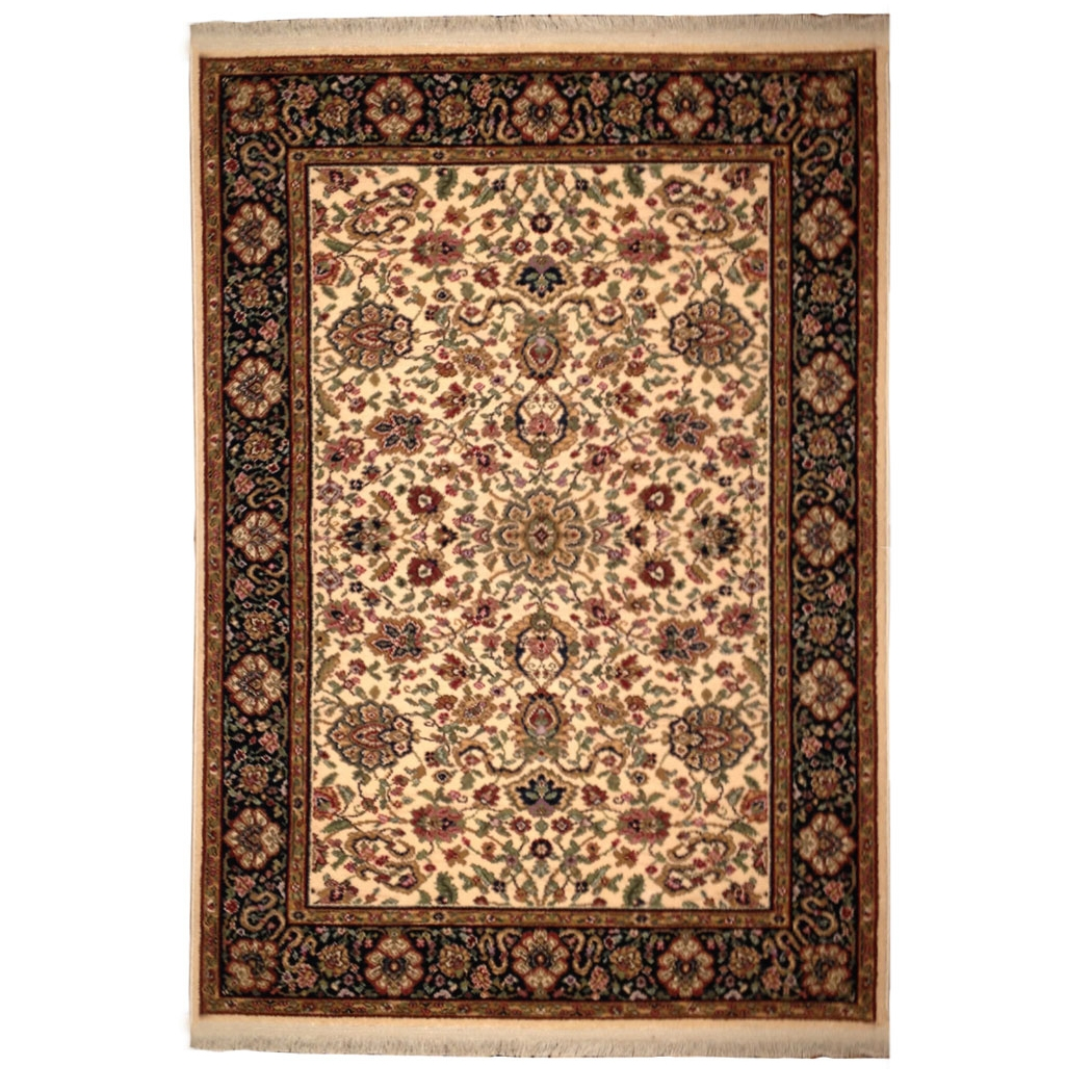 Karastan Traditional Ivory Black Green Red Wool Rug 4295 Throughout Red Wool Rugs (View 11 of 15)