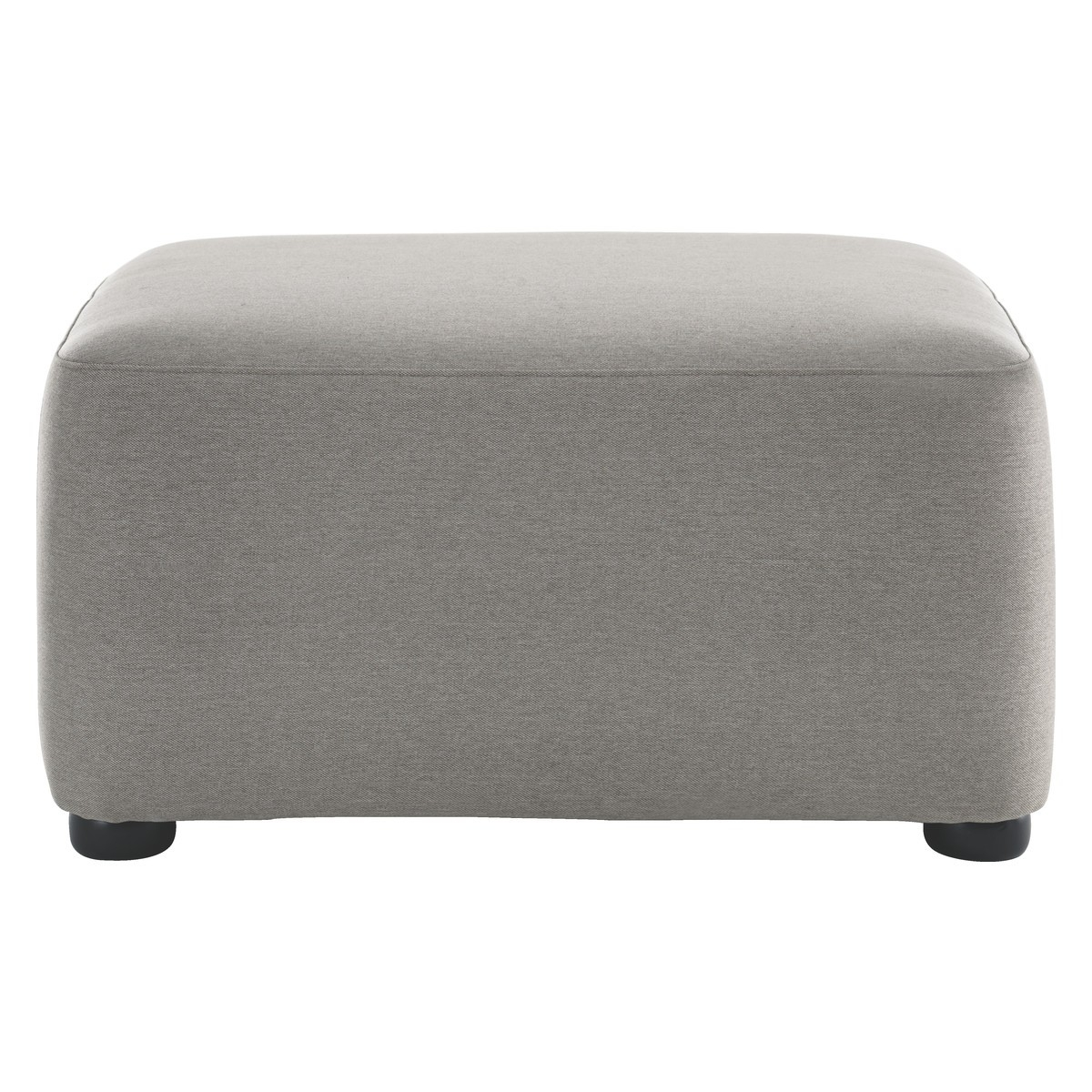 Kasha Grey Fabric Footstool Buy Now At Habitat Uk Pertaining To Fabric Footstools (Image 10 of 15)