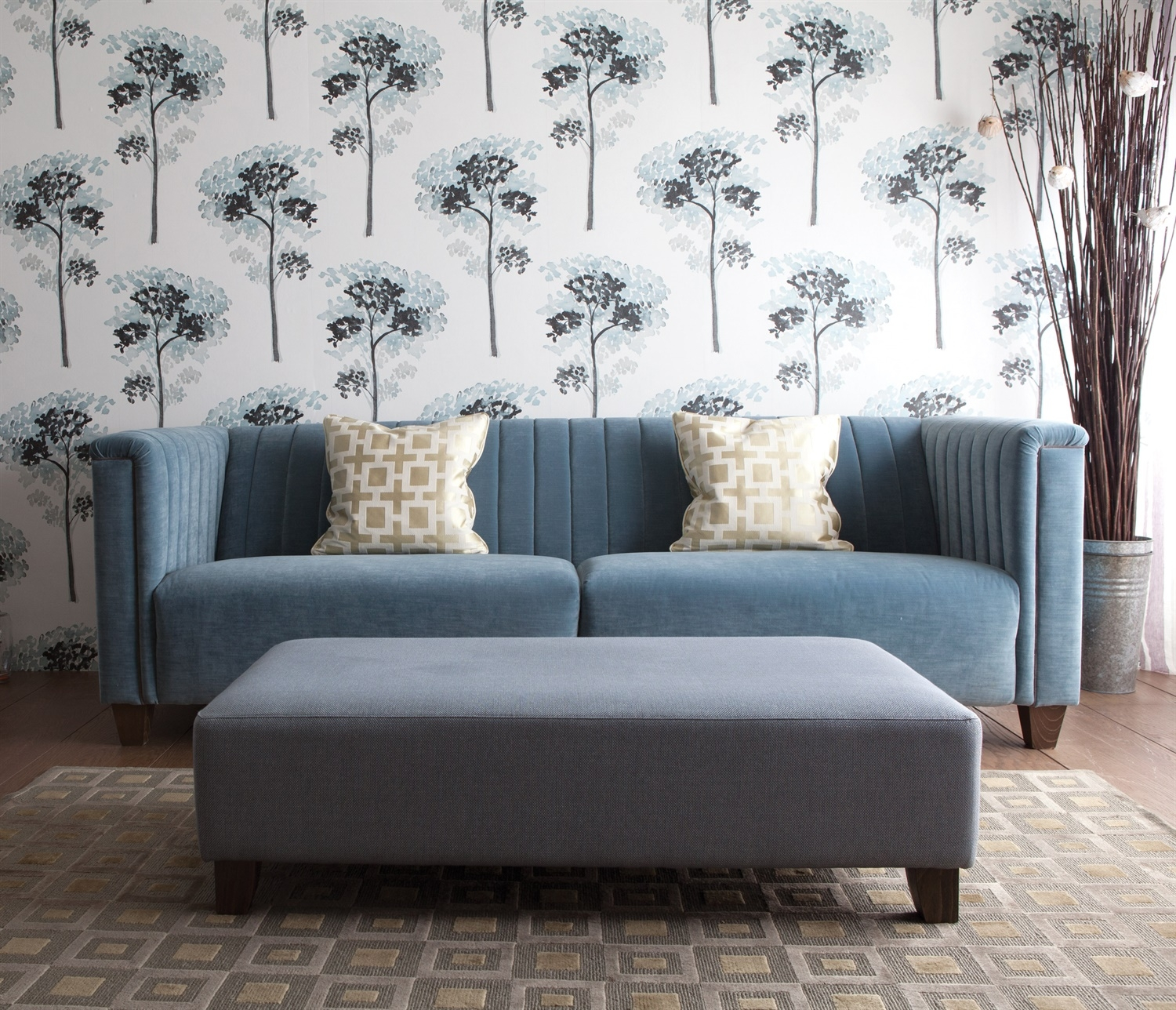 Katsura Momentum Iii Wallpaper Out Up And About Harlequin Inside Large Footstools (Image 12 of 15)
