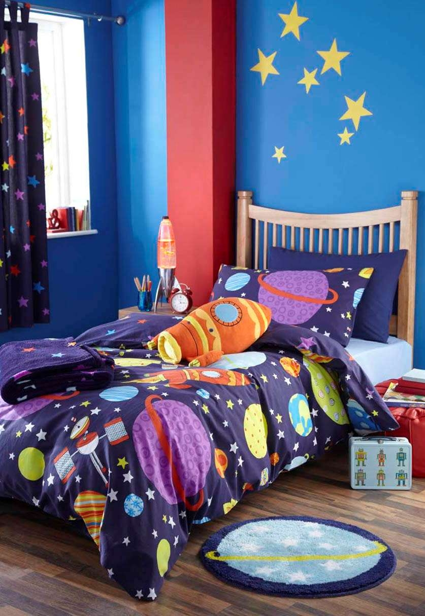 Kid Bedroom Handsome Boy Bedroom Decoration With Navy Blue In Blue Curtains For Boys Room (Image 20 of 25)