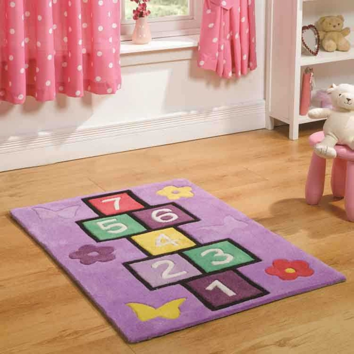 Kiddy Play Hopscotch Rug Flair Rugs With Regard To Flair Rugs (Image 5 of 15)