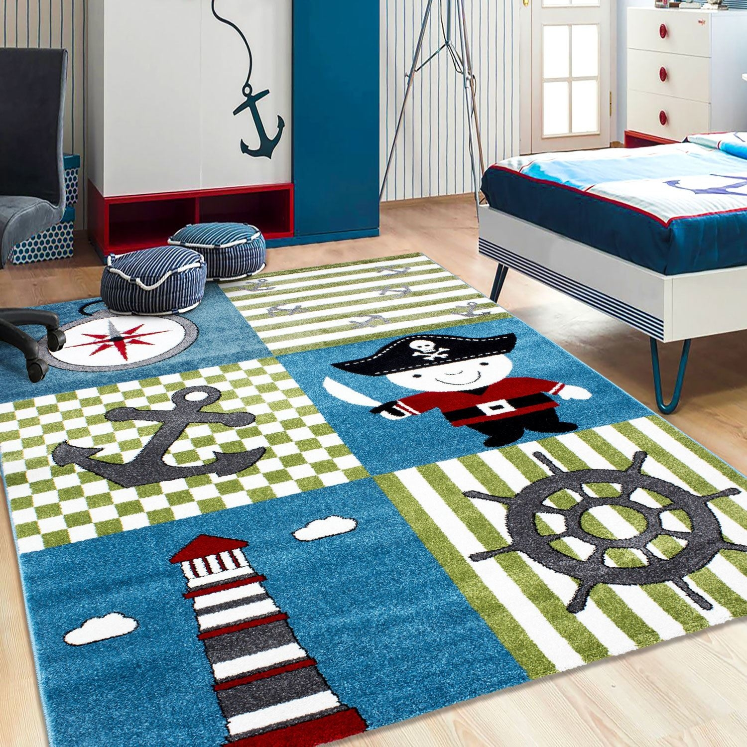 Kids Childrens Soft Quality Bedroom Blue Pink Car Rugs Extra Large With Regard To Extra Large Kids Rugs (Image 11 of 15)