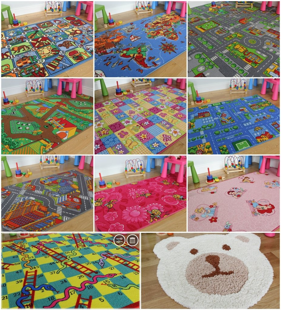 Kids Play Room Rugs Roselawnlutheran Within Pink Alphabet Rugs (View 3 of 15)