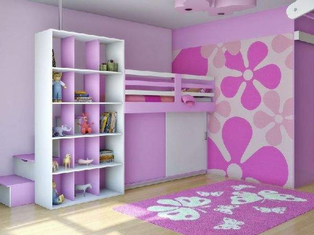 Kids Room Best Purple Bedroom Theme With Cool Furniture Set Intended For Childrens Pink Wardrobes (View 15 of 25)