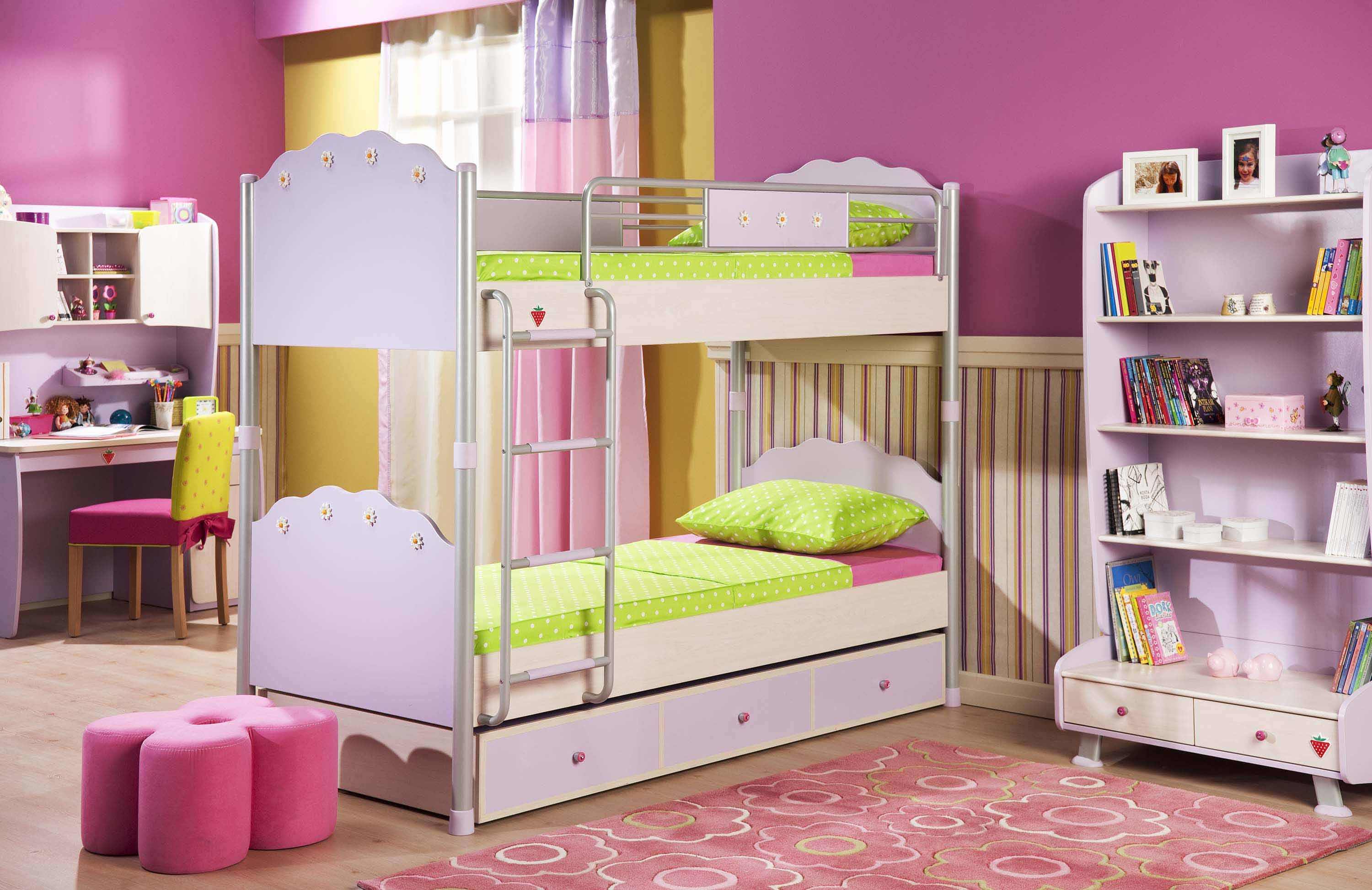 Kids Room Best Purple Bedroom Theme With Cool Furniture Set With Regard To Purple Curtains For Kids Room (Image 16 of 25)