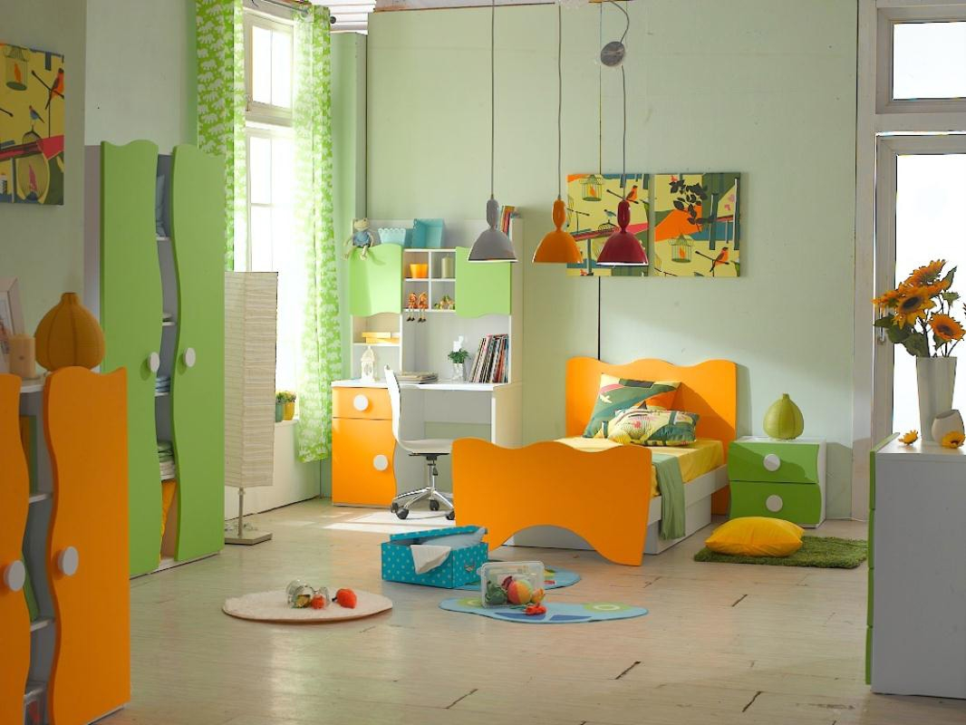 Kids Room Cntemporary Colorful Kid Bedroom With Soft Green Throughout Childrens Bedroom Wardrobes (Image 20 of 25)